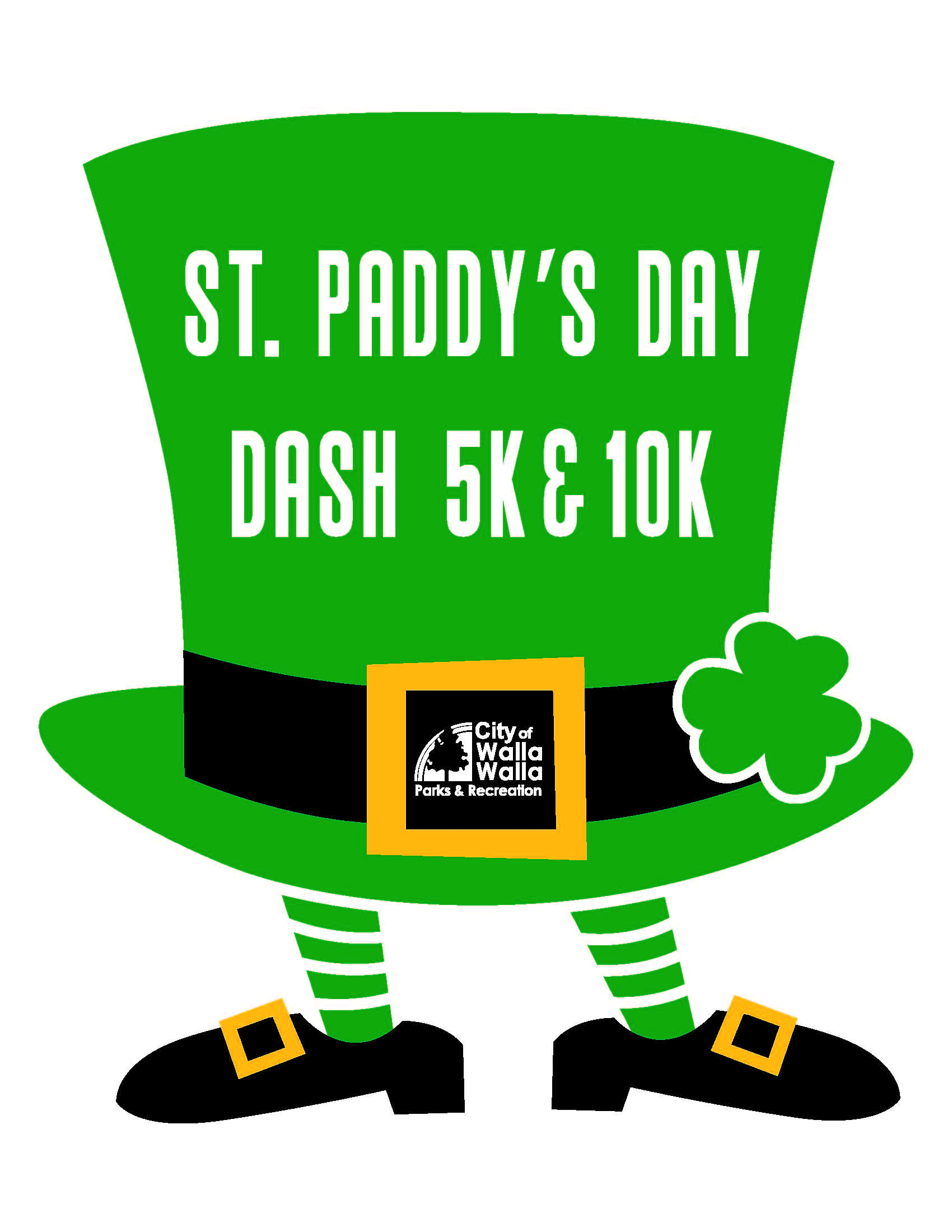 Leprechuan hat logo for running event