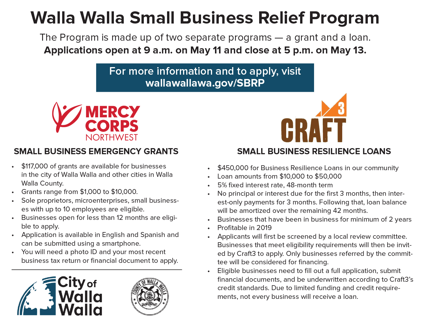 Small Business Relief Program promo
