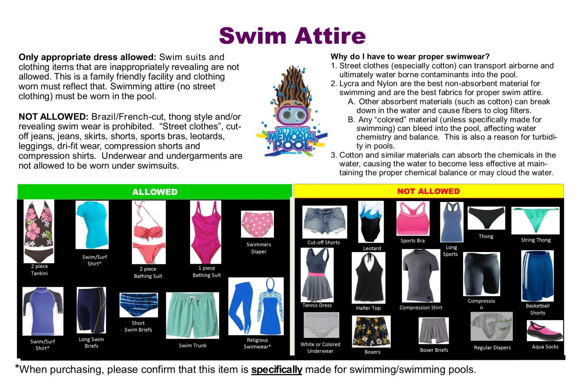 swim attire brochure